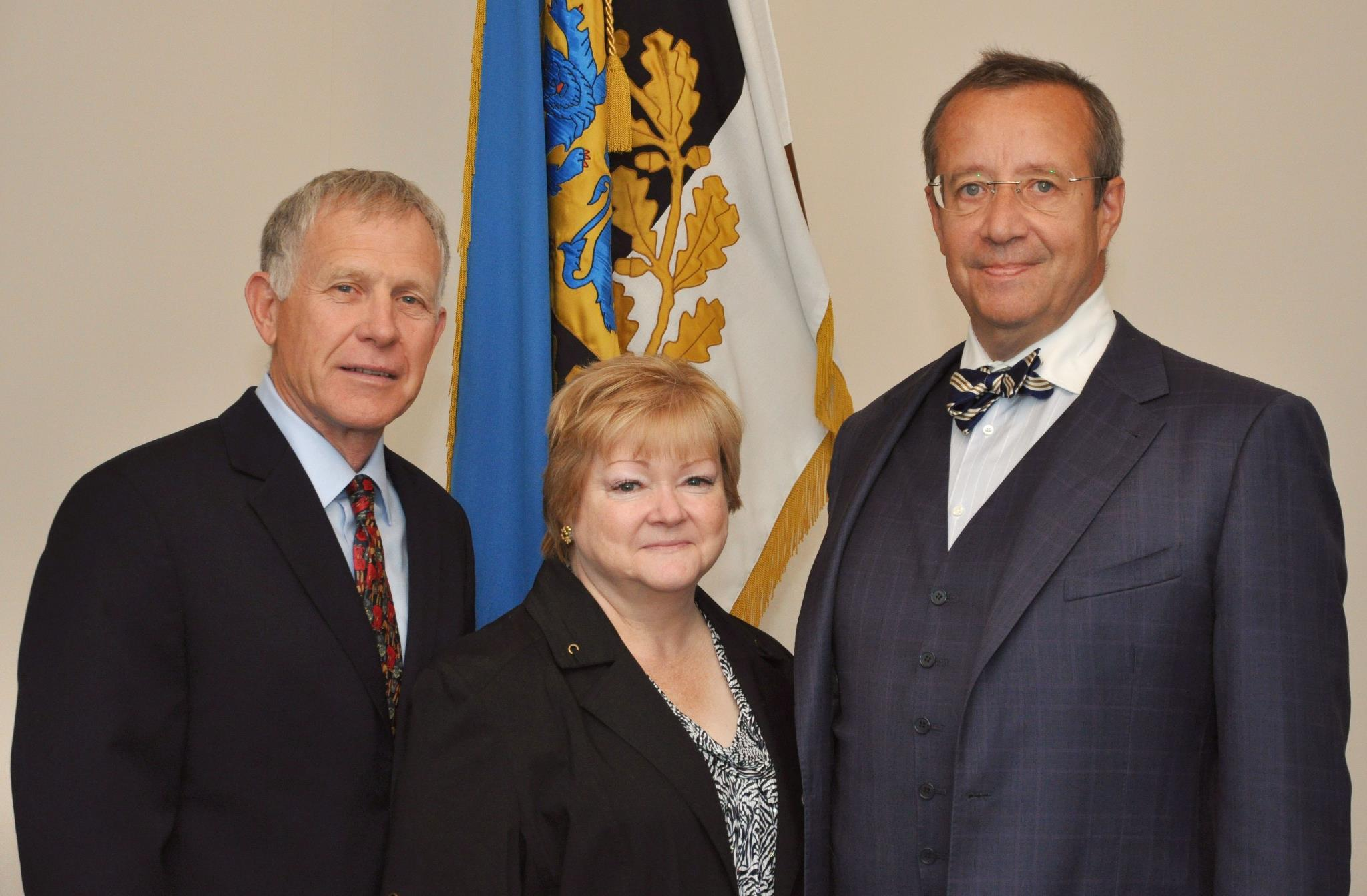 Judy and Dennis Shepard with President Toomas Hendrik Ilves of Estonia